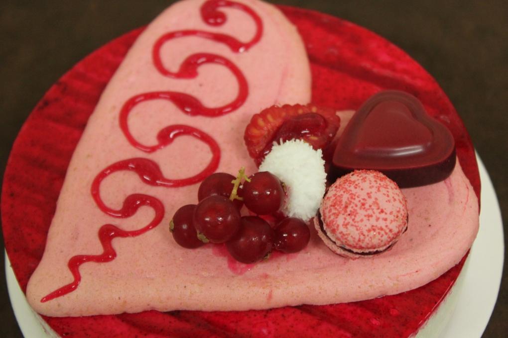 coeur de rose St Valentin