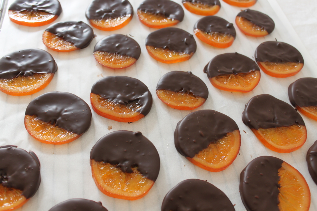 orange confite chocolat noir