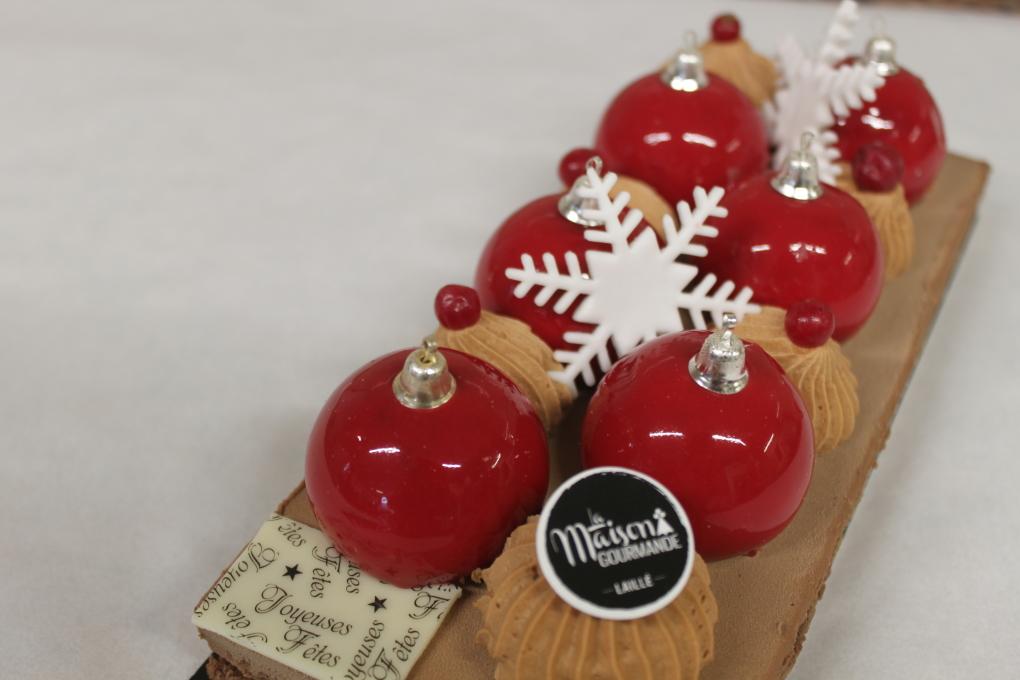 La «bûche boules de Noël»