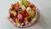 fond de tarte sablé, crème mousseline vanille fruits de saison