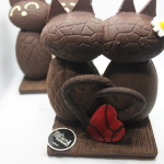 patits chats d'amour au chocolat noir